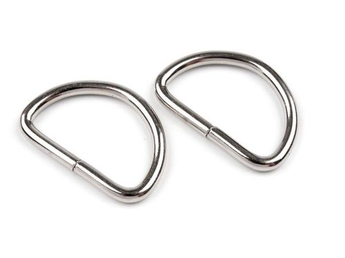D-Ringe 25mm nickel 1 Paar