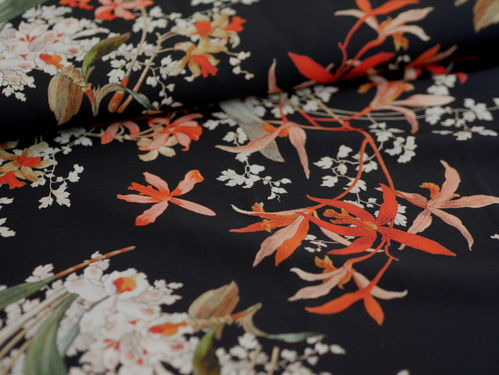 REST 1,10 m Crepe-Georgette Autumn Flowers